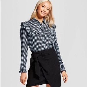 Who What Wear Silky Pioneer Blouse